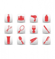 Hairdressing salon icons vector