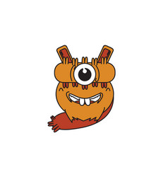 monster one eye vector image vector image