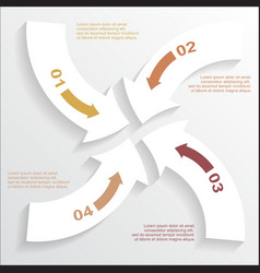 Paper arrows infographic 2 vector