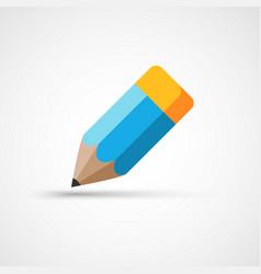 Pencil with rubber icon vector