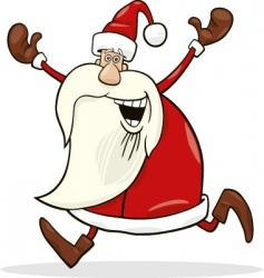 running Santa vector image vector image