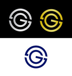 SG initials vector image