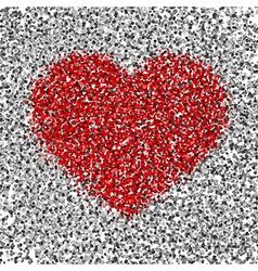 Silver red confetti vector