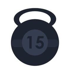 single kettlebell icon vector image