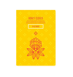 Sunny clover banners honey product vector