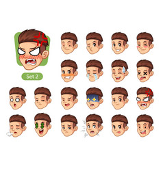 the second set of male facial emotions vector image