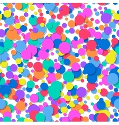 Seamless pattern of colorful confetti festive vector