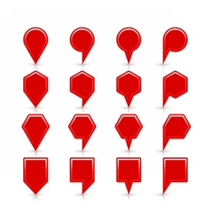 Flat red color map pin sign location icon vector