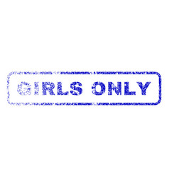 Girls only rubber stamp vector