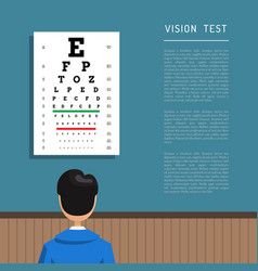 Ophthalmologist eye clinic vector