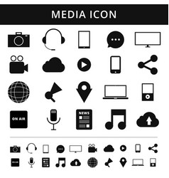 Media icons simplus series each icon is a single vector