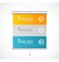 Set of blank roll up posters vector