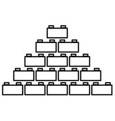 Building block black color icon vector