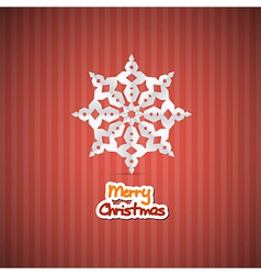 Retro red abstract merry christmas background vector