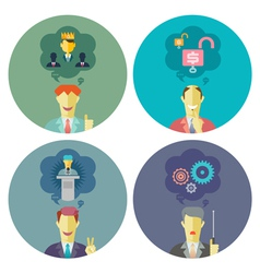Business and management set 5 vector