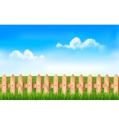 A fence in a field vector image