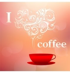 I love coffee concept vector
