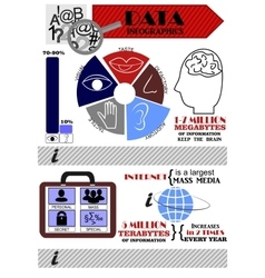 Infographics on the topic of information vector