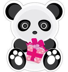 gift panda vector image