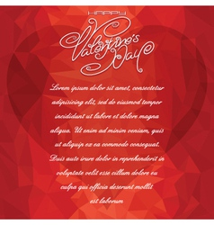 Valentine card backdrop vector
