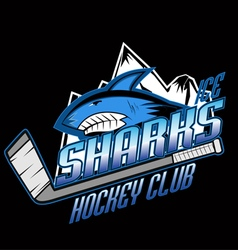 Sharks hockey club professional logo vector