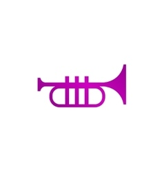 Trumpet icon flat vector