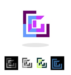 Abstract company logo and apps icon vector