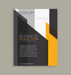 Abstract yellow black business template vector