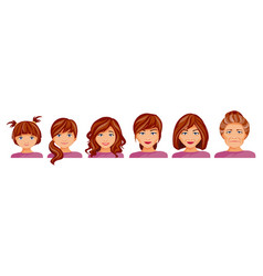 Age stages of a woman vector