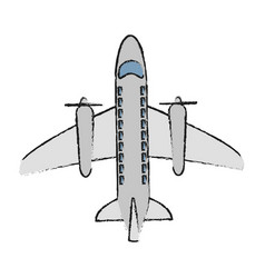 airplane topview icon image vector image vector image