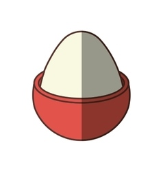 boiled egg breakfast nutrition shadow vector image