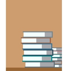 Books stack isolated school objects or vector