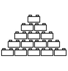 Building block black color icon vector