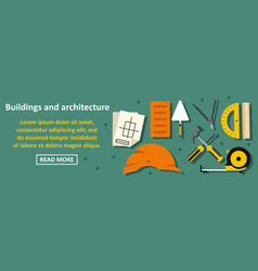 buildings and architecture banner horizontal vector image