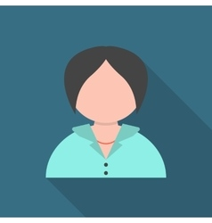 business woman with long shadow vector image