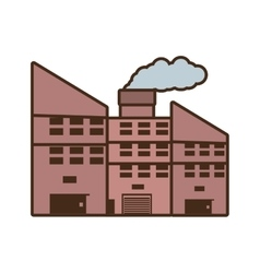 Cartoon power plant building with chimney vector