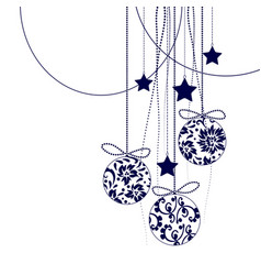 Christmas decorations elements in black vector