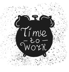 Clock hand drawn typography poster vector image vector image