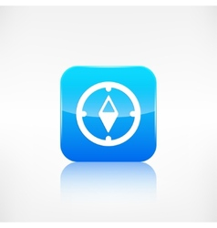 Compass web icon application button vector