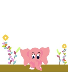 cute elephant vector image vector image