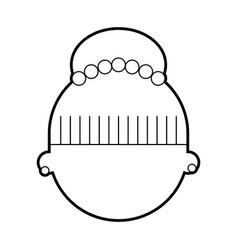 cute woman head character vector image vector image