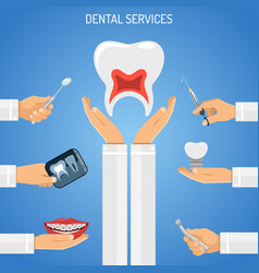 Dental services concept vector