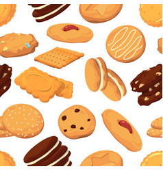 different cookies in cartoon style vector image