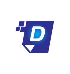 digital paper initial d vector image vector image