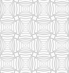 Dotted rectangle with doted structure vector