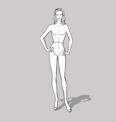 Female fashion figurine vector