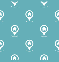 Home map pointer pattern seamless blue vector