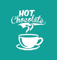 Hot chocolate design vector