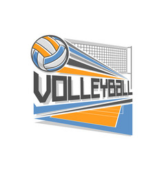 Logo for volleyball vector