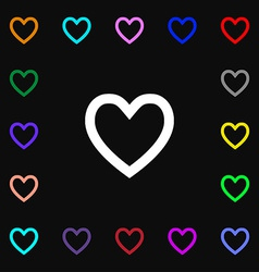 Medical heart love icon sign lots of colorful vector